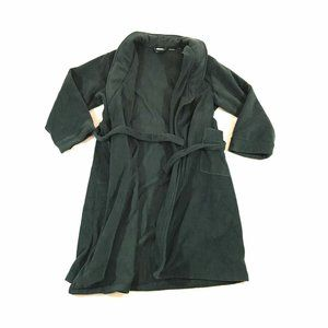LL Bean Bath Robe Lounge Coat Fleece Open Front